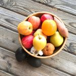 Bowl of Fruit on Wood Floor