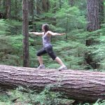 Katie Dwaileebe, Founder of Wellness to a Tea, Yoga Pose on Fallen Tree